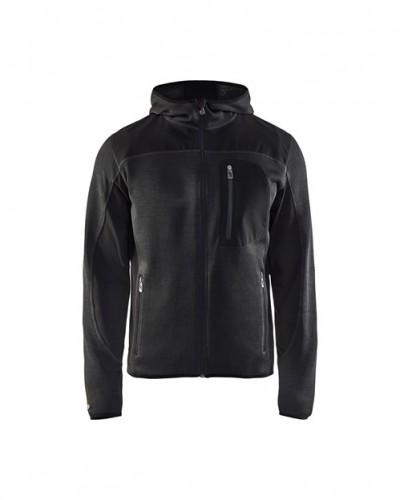 4930-2117 kötött kapucnis pulóver