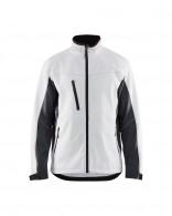 4950-2516 fehér sötétszürke softshlell dzseki