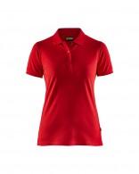 3307 női galléros pamut póló piros